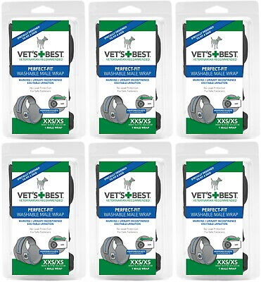Vet's Best Perfect-Fit Washable Male Wrap XXS / XS 6pk