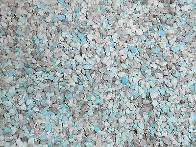 Crushed Natural Kingman Turquoise Material 10 Pounds for stone & wood inlay