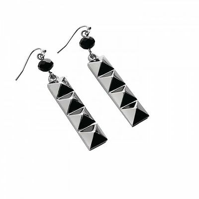 Waterford Rebel Ella B Designer Gunmetal Drop Earrings Hooks Boxed Punk