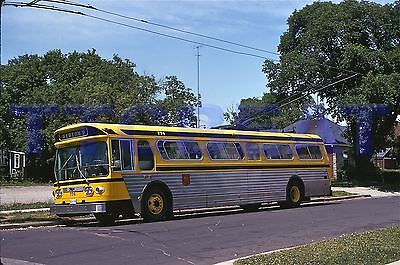 Hamilton Street Railway Trolley Bus Slide: Hsr #774 Flyer (1974 Original)