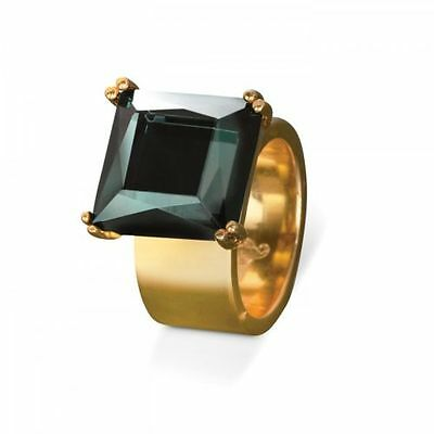 Waterford Rebel Lulu Jewel Ring Medium N / 6.5 Gold Tone Band New Boxed
