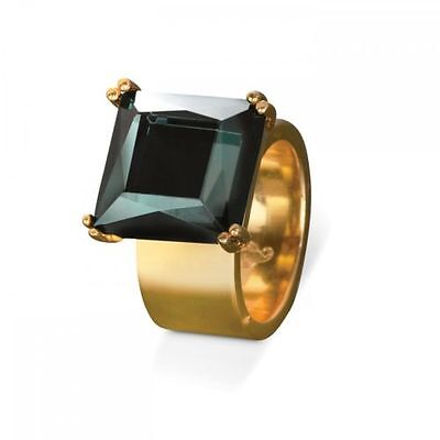 Waterford Rebel Lulu Jewel Ring Small L / 5.5 Gold Tone Band New Boxed