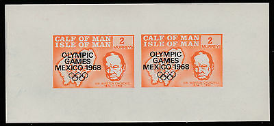 Calf of Man (1440) - 1968 Olympic Games & Churchill m/sheet unmounted mint