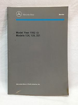 Mercedes Benz 1992 Introduction Into Service Manual For W124 R129 W201