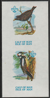 Calf of Man (1463) - 1973 BIRDS 1st Issue imperf m/sheet unmounted mint