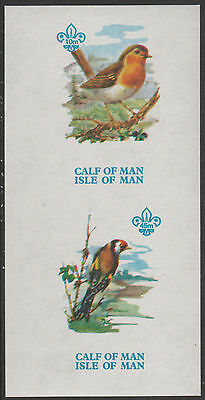 Calf of Man (1465) - 1973 BIRDS 1st Issue imperf m/sheet unmounted mint