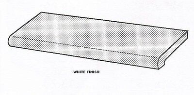 """Store Display Fixtures 4 WHITE BULL NOSE  DISPLAY SHELVES 48"""" long x 13"""" wide"""