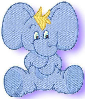 Toby The Elephant 10 Machine Embroidery Designs Cd 2 Sizes Included