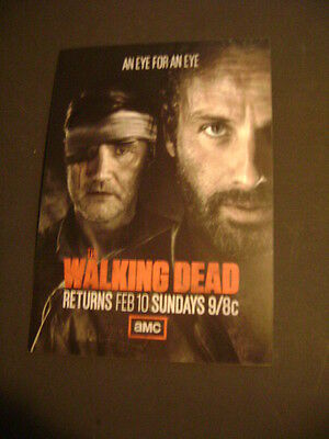2013 February 10Th The Walking Dead Resumes Season 3 Amc Collectible Tv Card