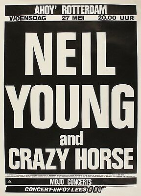 "Neil Young Dutch 16"" x 12"" Photo Repro Concert Poster"