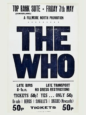 """The Who Sunderland 16"""" x 12"""" Photo Repro Concert Poster"""