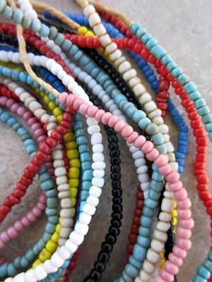 African Glass Beads -10 Strands [66107]