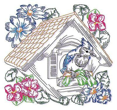 BLUE JAY BLOCKS 10  MACHINE EMBROIDERY DESIGNS CD 2 sizes