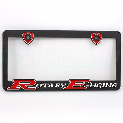 Red Rotary Engine License Plate Frame Mazda Rx7 Rx2 Rx4 Rx5 12A Rx8 Gs Gxl T2