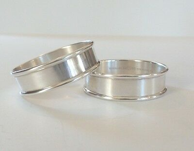 PAIR VINTAGE GORHAM STERLING SILVER NAPKIN RINGS, NO MONOGRAM, 30 grams