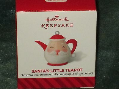 Hallmark 2014 Santa's Little Teapot -  Miniature Ornament - NEW