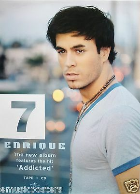 "ENRIQUE IGLESIAS ""7-FEATURES THE HIT, ADDICTED"" THAILAND PROMO POSTER-Latin Star"