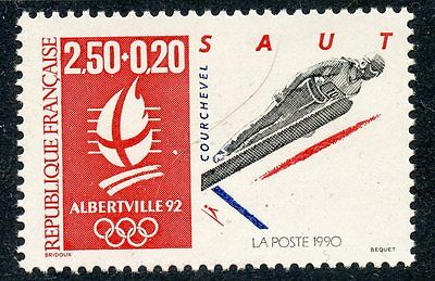 Stamp / Timbre France Neuf N° 2738 ** Jeux Olympique Alberville 1992 Saut