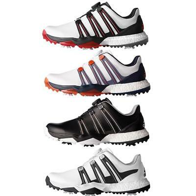 Adidas 2017 Powerband BOA Boost Waterproof Leather Men's Golf Shoes