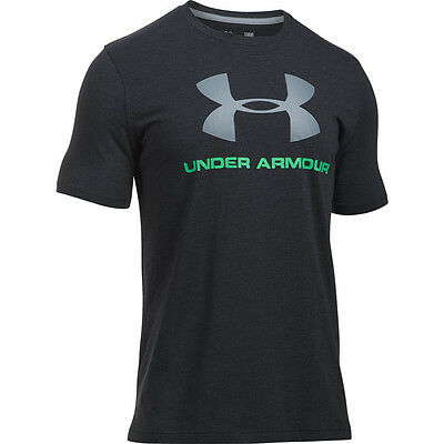 Under Armour Charged Cotton Sportstyle Logo T-Shirt black green 1257615-012