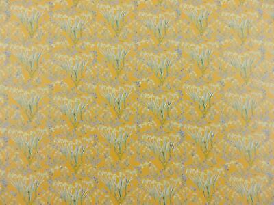 Dolls House Victorian Japanese Iris Miniature Floral Print 1:12 Scale Wallpaper