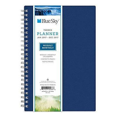"""Blue Sky 2017 Weekly & Monthly Planner, Wire-O Binding, 5"""" x 8"""", Journey New"""