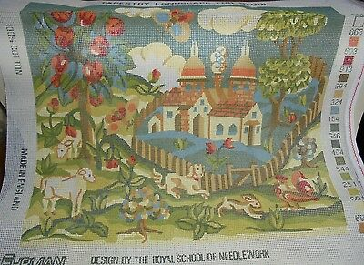 Ehrman Tapestry Kit- 'landscape 4 Stool'- Design The Royal School Of Needlework