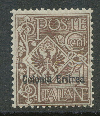 "2154 ITALIAN ERITREA 1903 Eagle with Coat of Arms Italy ""Colonia Eritrea"" 1C M/M"