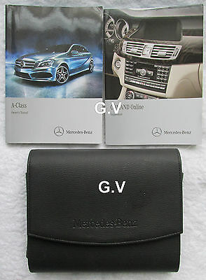 Mercedes A Class Owners Manual With Comand Online & Leather Wallet Free Post