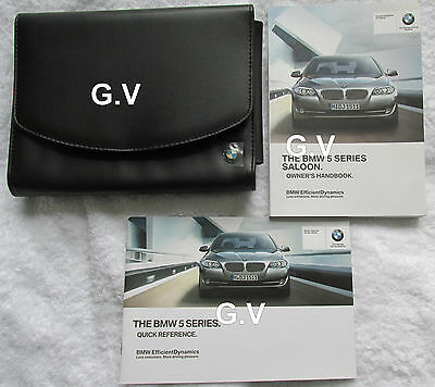 Bmw 5 Series Saloon Owners Manual With Leather Wallet 2012 & Quick Reference
