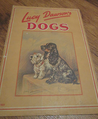 Dogs by Lucy Dawson (1938) Published by Whitman in Racine WI 11 Page Pamphlet