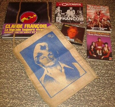 Claude Francois Lot Collector Livres Cd Sac Toile Dvd