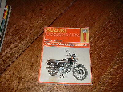 Haynes Manual For Suzuki Gs1000 Fours. 1977 On.
