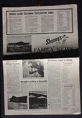 May 1973 Knoxville,Tennessee Shoney's Big Boy newsletter-GREAT OLD PHOTOS INSIDE