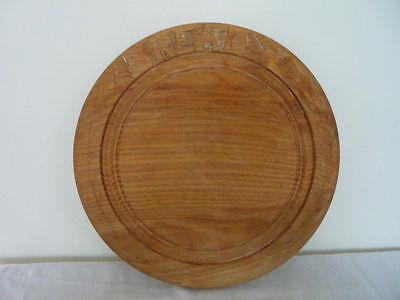 Large Vintage Carved Wood Bread Board Decorative Kitchenalia Use / Display