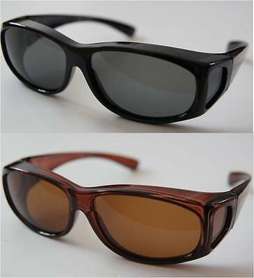 2 pairs polarized sunglasses cover/wear over junior RX glass or lazy eye glasses