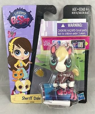 Sheriff Dale 3948 Brown White Tan Horse Pony Green Eyes Littlest Pet Shop New
