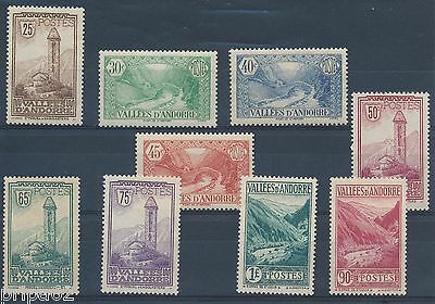 M1403 - ANDORRE - Timbres N° 31 à 39 Neufs*