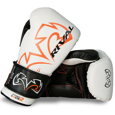 Rival Boxing Evolution Hook and Loop Sparring Gloves - 16 oz. - White