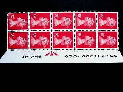 Enschede.38p.Warrant/Date block of 10.U372.Right.Superb MNH.Unfolded.
