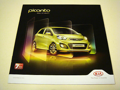 Kia . Picanto . October 2013 . Sales Brochure