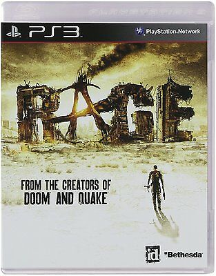 Rage [PlayStation 3 PS3, Open World Action Shooter FPS, id Software Bethesda]