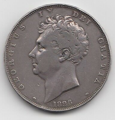 Very Rare 1826 George Iv Proof Crown Septimo