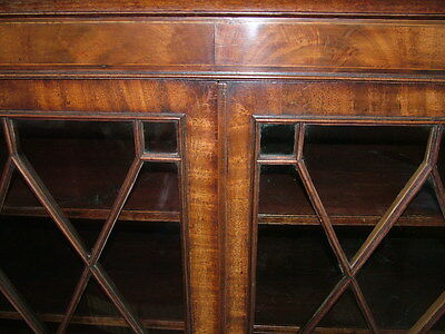 Fabulous Original Georgian Glazed Bookcase  Good Condition And Colour Low Reserv