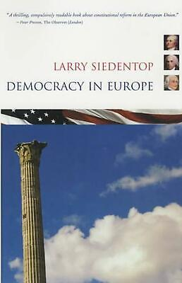 Democracy in Europe by Larry Siedentop (English) Paperback Book Free Shipping!