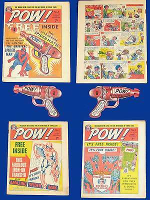 POW COMIC 1, 2, 3  from 1967 UK * Super Hero