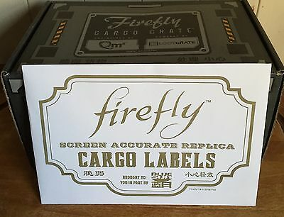Firefly Replica Cargo Sticker Set (From Serenity Files) **Loot Crate Exclusive**