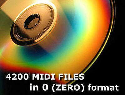4200 Midi Files Format 0 zero on CD for SD & usb midi player piano classical pop