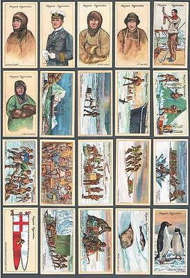 1916 John Player & Sons Polar Exploration 2nd Series Tobacco Cards Complete Set