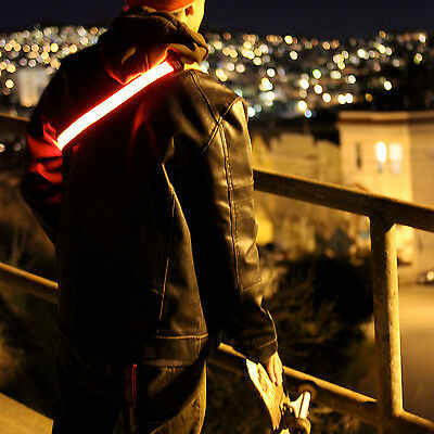 Halo LED Belt RED Safety Night Light Band Running Bicycle Bike Cycling Travel